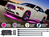 Pink Wireless SMD LED Underbody Lighting Kit