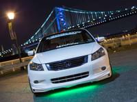 Green Slimline LED Underglow Lighting Kit