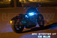 2pc Classic Ice Blue Motorcycle Lighting Kit