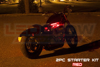 2pc Classic Red Motorcycle Lighting Kit