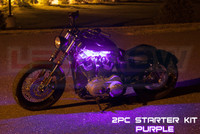 2pc Classic Purple Motorcycle Lighting Kit