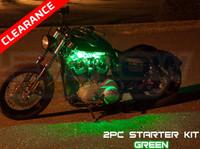 2pc Classic Single Color LED Motorcycle Lighting Starter Kit