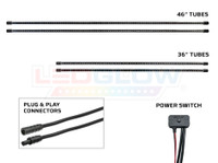 Slimline Underbody Tubes, Plug & Play Connectors & Power Switch