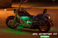 4pc Classic Green Motorcycle Lighting Kit
