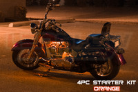 4pc ClassicOrange Motorcycle Lighting Kit