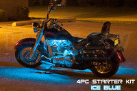 4pc Classic Ice Blue Motorcycle Lighting Kit
