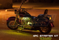 4pc Classic Yellow Motorcycle Lighting Kit