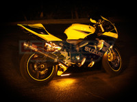 Classic Yellow Motorcycle LED Lights