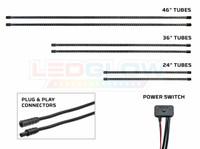 6pc Blue SMD LED Slimline Truck Underbody Lighting Kit