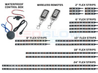 LiteTrike II Advanced Million Color Flexible LED Strips, Control Box, & Two Wireless Remotes