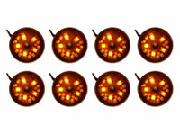 8pc Orange Pod Lights
