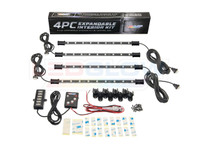4pc Expandable 7 Color SMD LED Interior Lights Unboxed