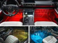 4pc. Expandable 7 Color SMD LED Interior Lights Kit