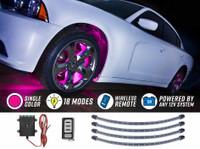 Pink Flexible LED Wheel Well Lights