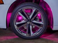 Pink LED Wheel Well Fender Lights