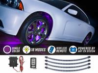 Purple Flexible LED Wheel Well Lights