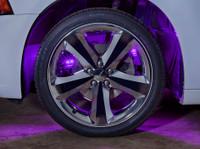 Purple LED Wheel Well Fender Lights