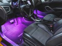 2pc 7 Color Expandable LED Interior Lighting Starter Kit