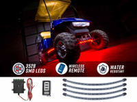 Red LED Golf Cart Underbody Lights