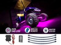 Pink LED Golf Cart Underbody Lights