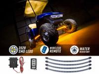 Yellow LED Golf Cart Underbody Lights