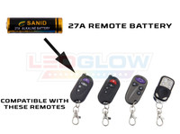 LEDGlow Replacement 27a Battery / Remotes