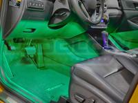 4pc Green LED Car Interior Lights