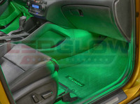 4pc Green LED Car Interior Lights