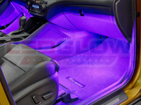 4pc Purple LED Car Interior Lights