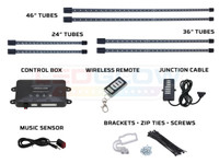 Purple Wireless SMD LED Truck Underbody Lighting Kit