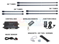 Red Wireless SMD LED Truck Underbody Lighting Kit