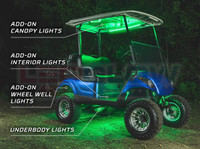 Million Color LED Golf Cart Lighting Kit with Canopy, Wheel Well & Interior Add-On Kits