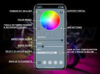 LEDGlow Motorcycle Control App Main Screen Callouts