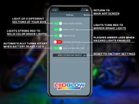 LEDGlow Motorcycle Control App Settings Callouts