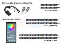 6pc Advanced Million Color SMD LED Motorcycle Lighting Kit with Smartphone Control