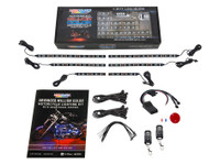 6pc Advanced Million Color SMD LED Motorcycle Lighting Kit with Smartphone Control Unboxed
