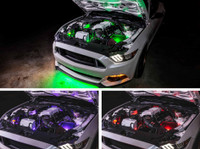 Engine Bay Lighting Add-On Kit for Smartphone & Million Color Wireless Underbody Kits