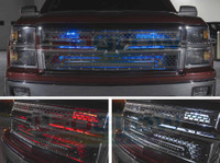 Million Color SMD LED Grille Lighting Kit Install Photo Collage