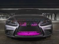 "24"" Pink SMD LED Add-On Grille Light Installed"