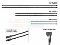 Slimline Truck Underbody Tubes, Plug & Play Connectors & Power Switch