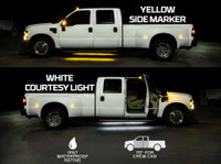 Yellow LED Side Marker Running Lights with White Courtesy Lights