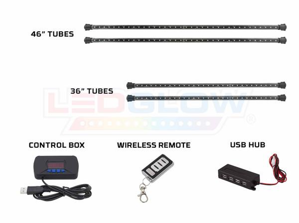 Advanced 3 Million Wireless USB Lighting Tubes, Control Box, USB Hub, and Wireless Remote