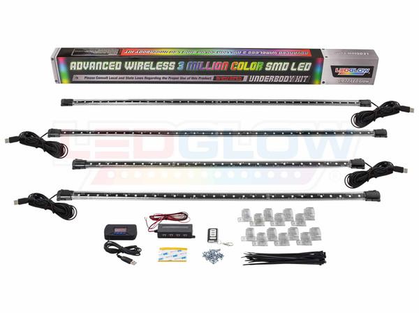 Advanced 3 Million USB Wireless LED Underbody Lighting Kit Unboxed
