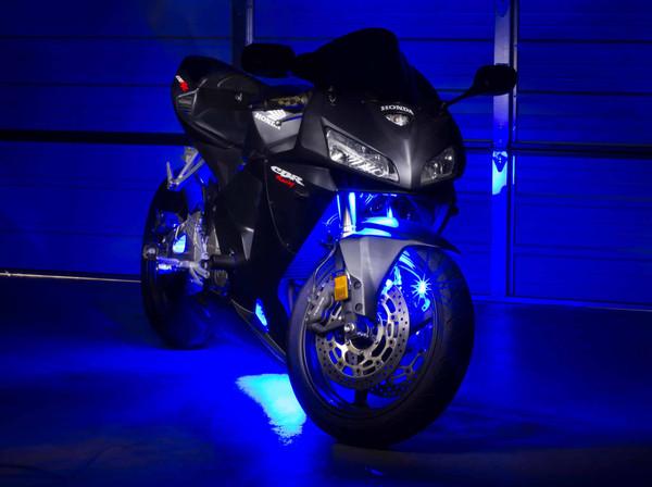 Advanced Blue Mini Motorcycle Lighting Kit