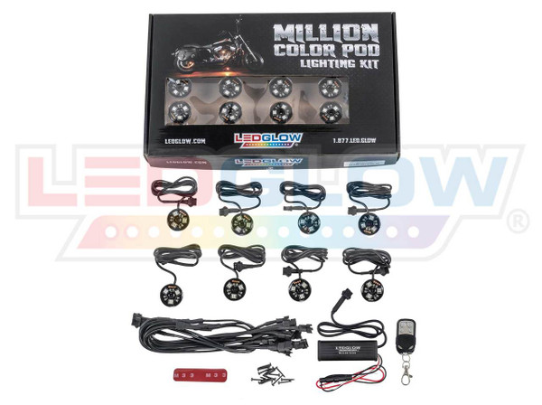 8pc Advanced Million Color SMD LED Pod Lights