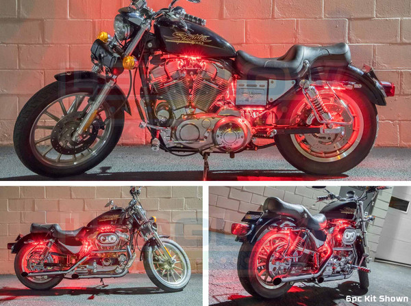 6pc Flexible Million Color Motorcycle Lighting Kit