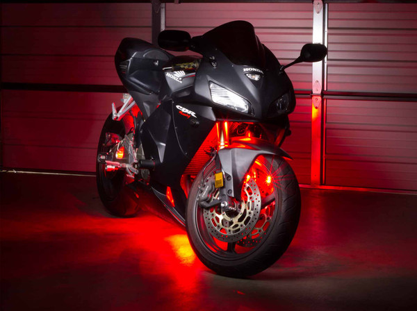 Advanced Red Motorcycle LED Lighting Kit