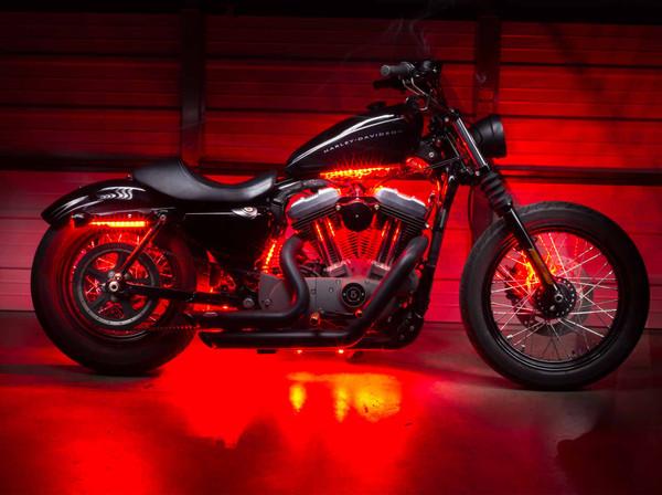 Advanced Red Motorcycle Lighting Kit