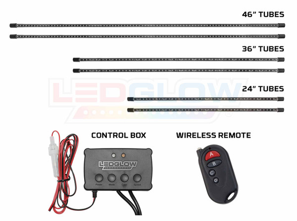 Million Color SMD LED Truck Underbody Tubes, Control Box & Wireless Remote