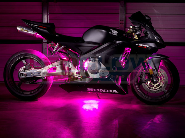 Advanced Pink LED Motorcycle Lighting